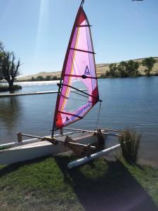 The Huck Finn Canoe Is Now An Outrigger Sailing Canoe