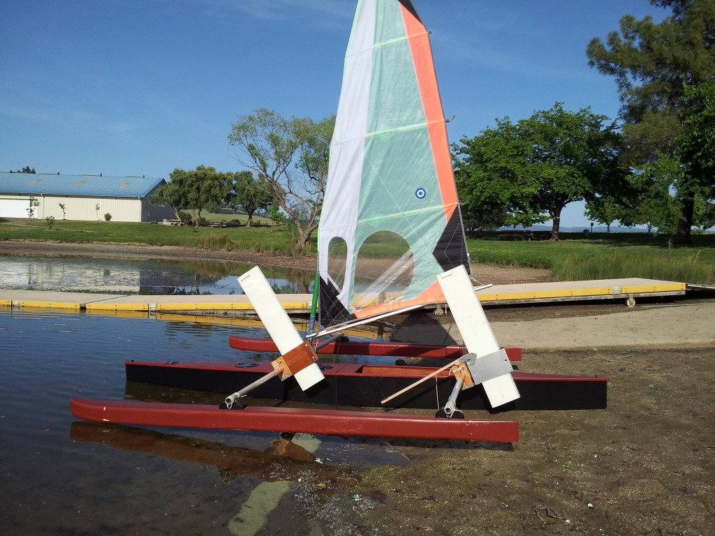 Outrigger Sailing Canoe Model B on the Beach